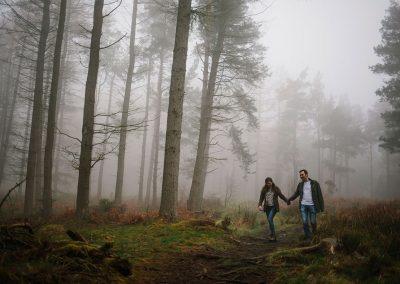 Northumberland Pre wedding shoot couple photography Simonside