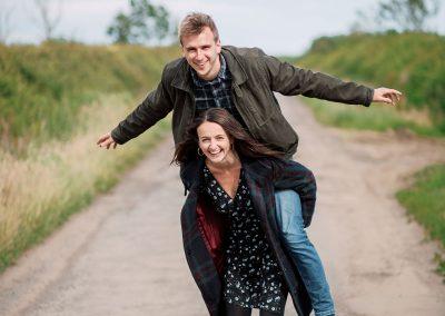 Northumberland Pre wedding shoot couple photography druridge bay
