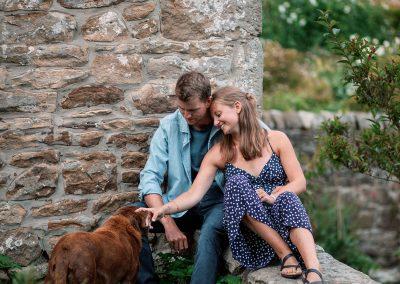 Northumberland Pre wedding shoot couple photography