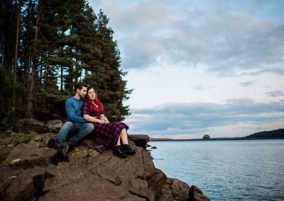 Northumberland Pre wedding shoot couple photography Kielder