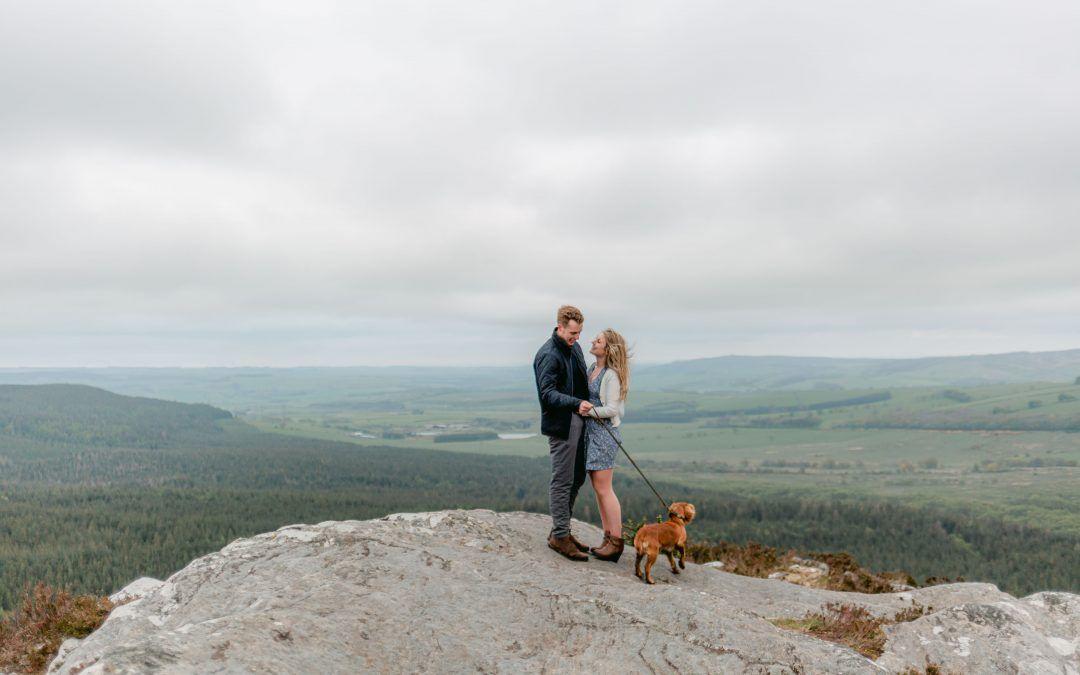 Rachel & Chris – Pre Wedding Shoot – Thrunton Woods